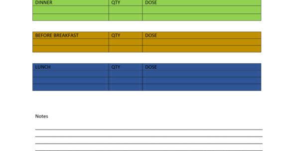 Daily Medication Schedule Spreadsheet Throughout 40 Great Medication Schedule Templates  Medication Calendars