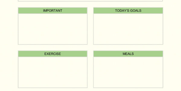 Daily Planner Spreadsheet Throughout Daily Planner Templates Word, Excel, Pdf
