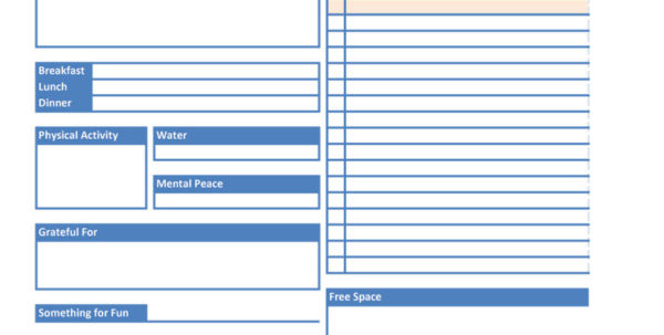 Daily Planner Spreadsheet With 40  Printable Daily Planner Templates Free  Template Lab