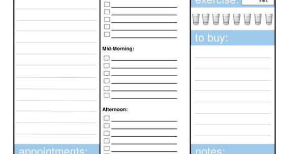 Daily Planner Spreadsheet With Regard To 40  Printable Daily Planner Templates Free  Template Lab