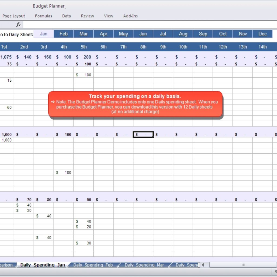 Daily Spending Spreadsheet Within Budget Plan Spreadsheet Planner Ndash Daily Spending Inside Invoice