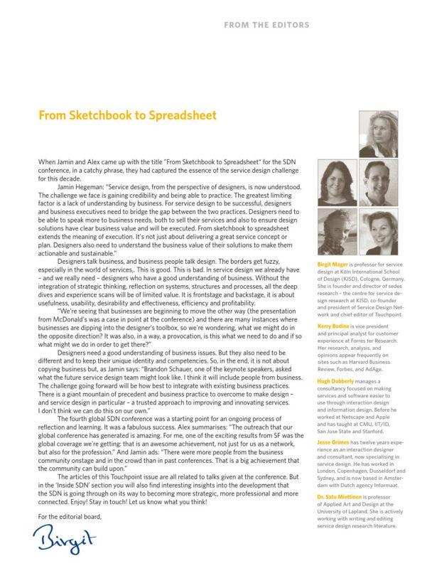 Dam Design Spreadsheet Throughout Touchpoint Vol. 3 No. 3Service Design Network  Issuu