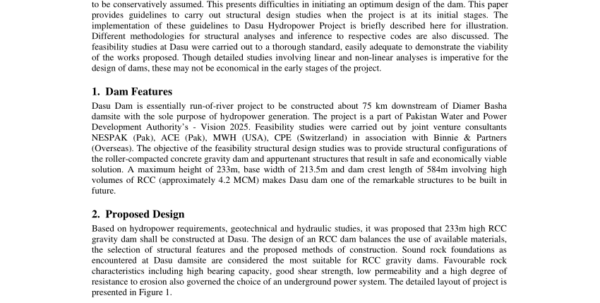 Dam Design Spreadsheet With Pdf Structural Design Of A Dam; A Feasibility Level Approach