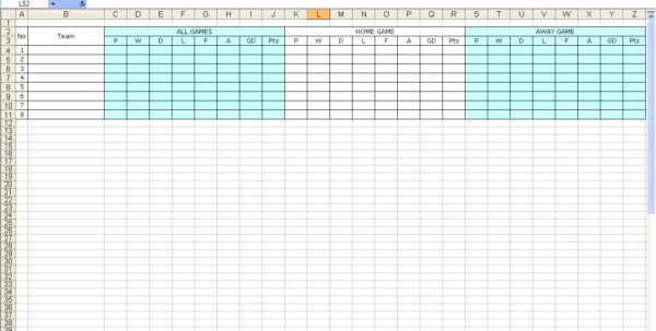 Darts League Excel Spreadsheet In Create Your Own Soccer League Fixtures And Table  Excel Templates
