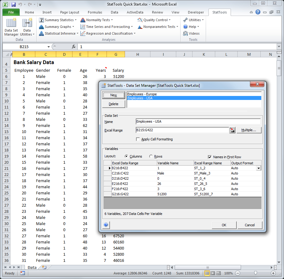 Data Analysis Using Spreadsheets In Stattools: Forecasting And Statistical Analysis Software For Excel