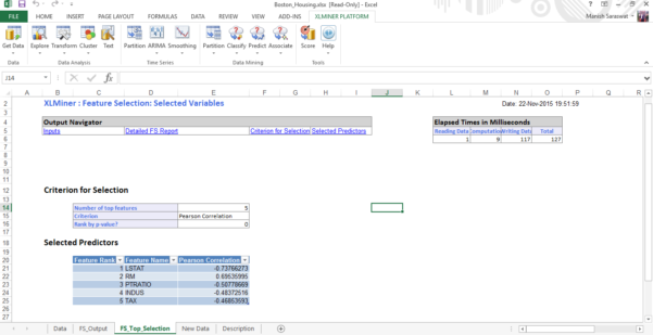 Data Mining Spreadsheets Pertaining To Getting Started With Machine Learning In Ms Excel Using Xlminer