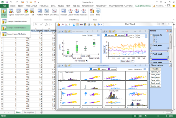 Data Mining Spreadsheets With Frontline Solvers V2015 Offers Excel Users Enterpriselevel Text