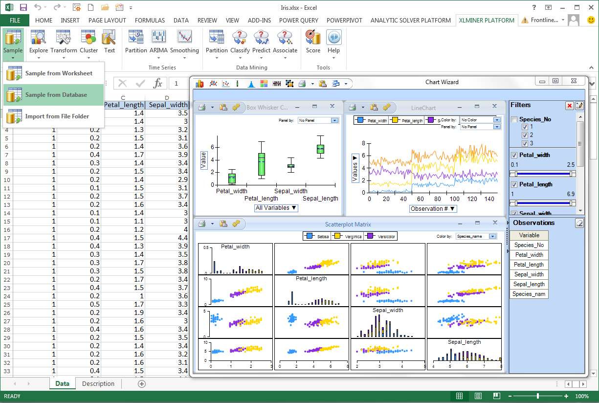 data mining spreadsheets with frontline solvers v2015