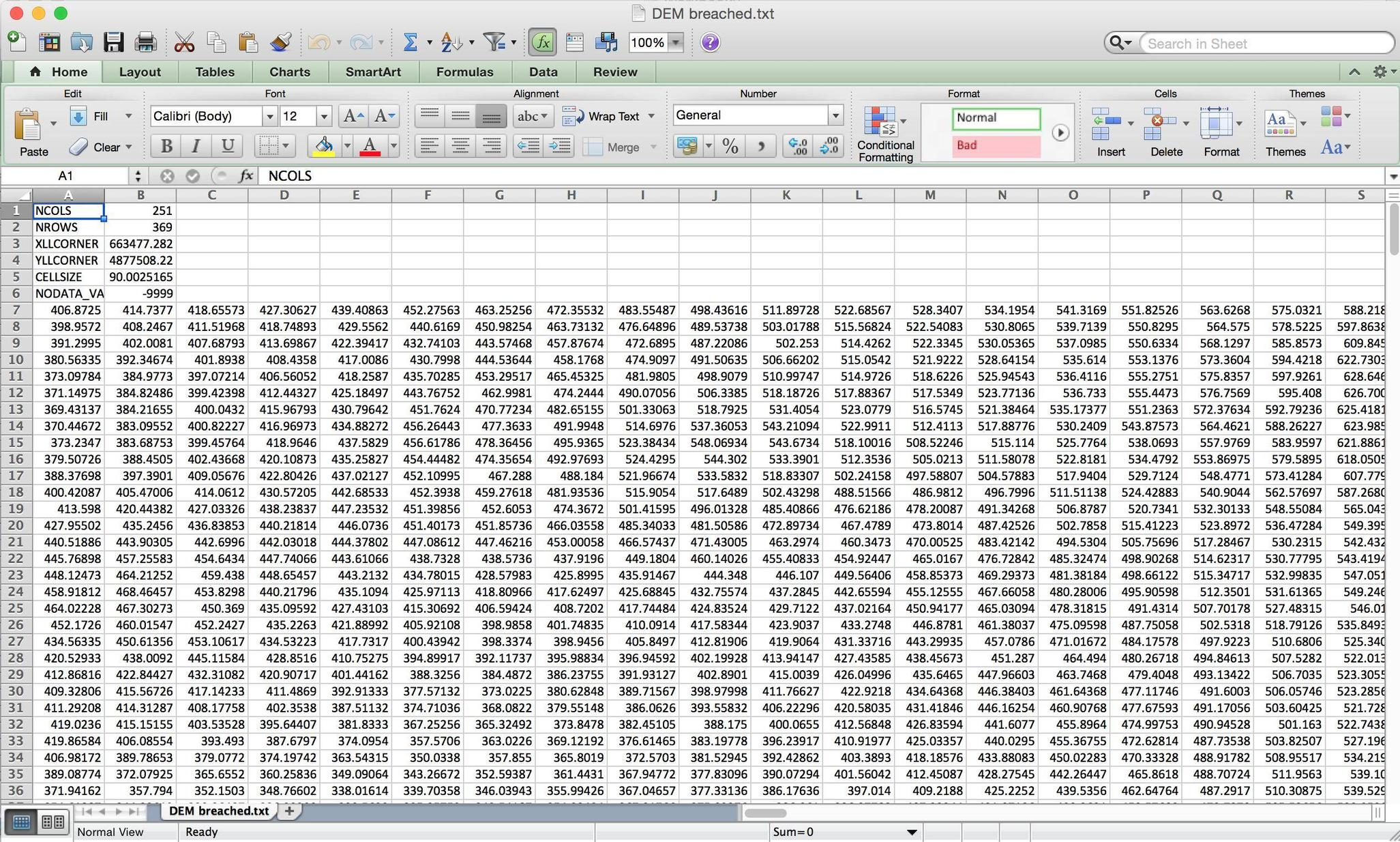 Data Spreadsheet Intended For Raster  How To Export Data From Saga Or Tas Into Excel