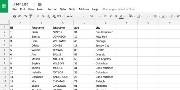 Database Vs Spreadsheet In Spreadsheet Tutorial  Server.js