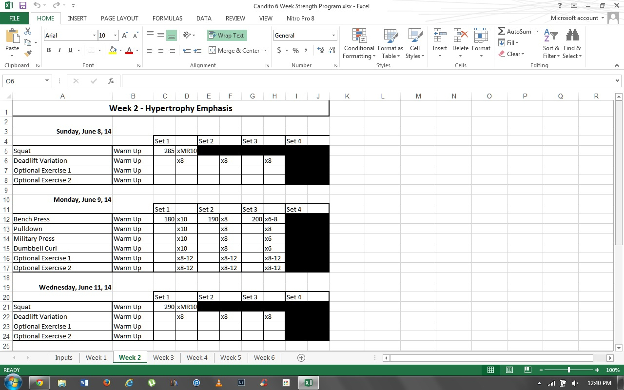 Deadlift Program Spreadsheet With Jonnie Candito 6 Week Strength Program  Log  Bodybuilding Forums
