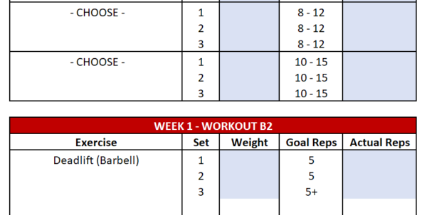 Deadlift Program Spreadsheet Within Gzclp Spreadsheet Instructions  Say No To Broscience