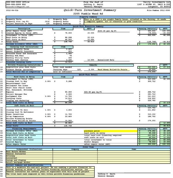 Deal Analyzer Spreadsheet Throughout Property Analysis Worksheet Short Form  Ultimate Bargains – Real