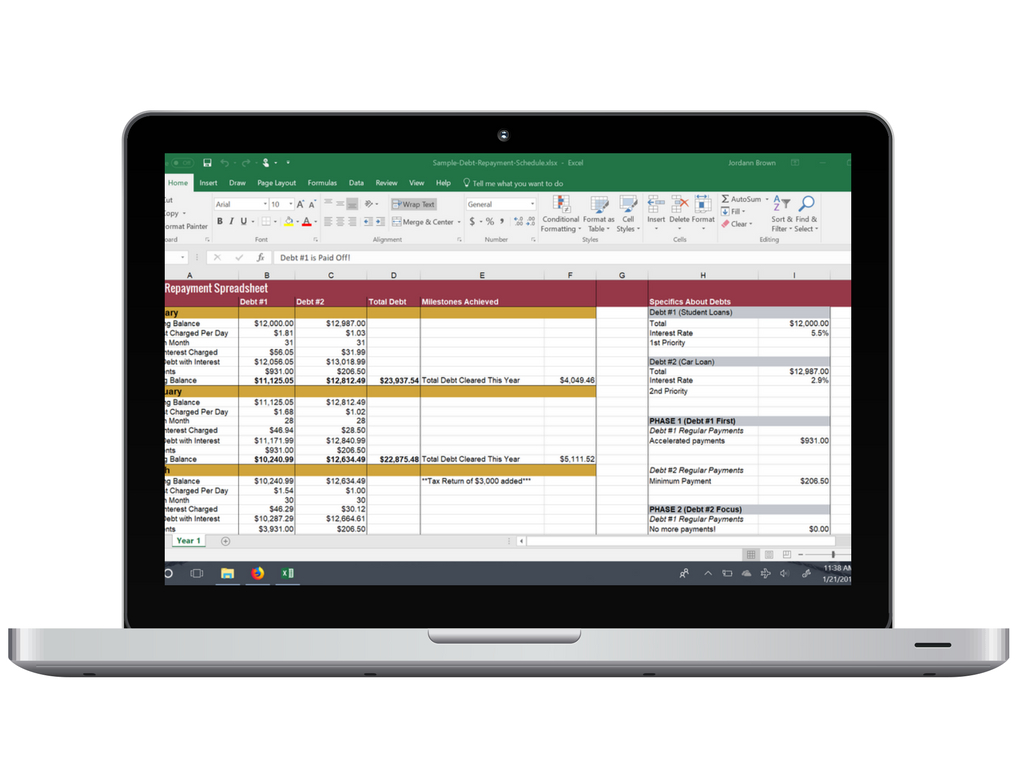 Debt Avalanche Calculator Spreadsheet In The Debt Repayment Spreadsheet I Used To Pay Off $56,000  My