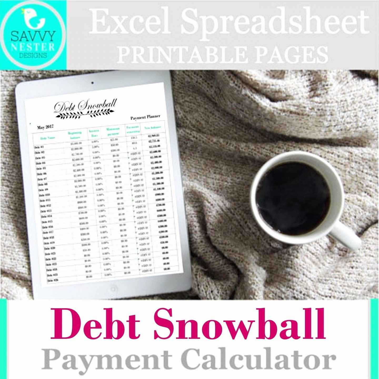 Debt Avalanche Spreadsheet With Regard To Debt Snowball Spreadsheet Google Docs Lovely Spreadsheet Examples