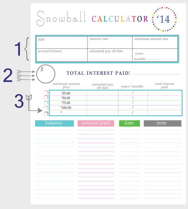 Debt Calculator Spreadsheet Pertaining To Debt Snowball Calculator Spreadsheet  My Spreadsheet Templates