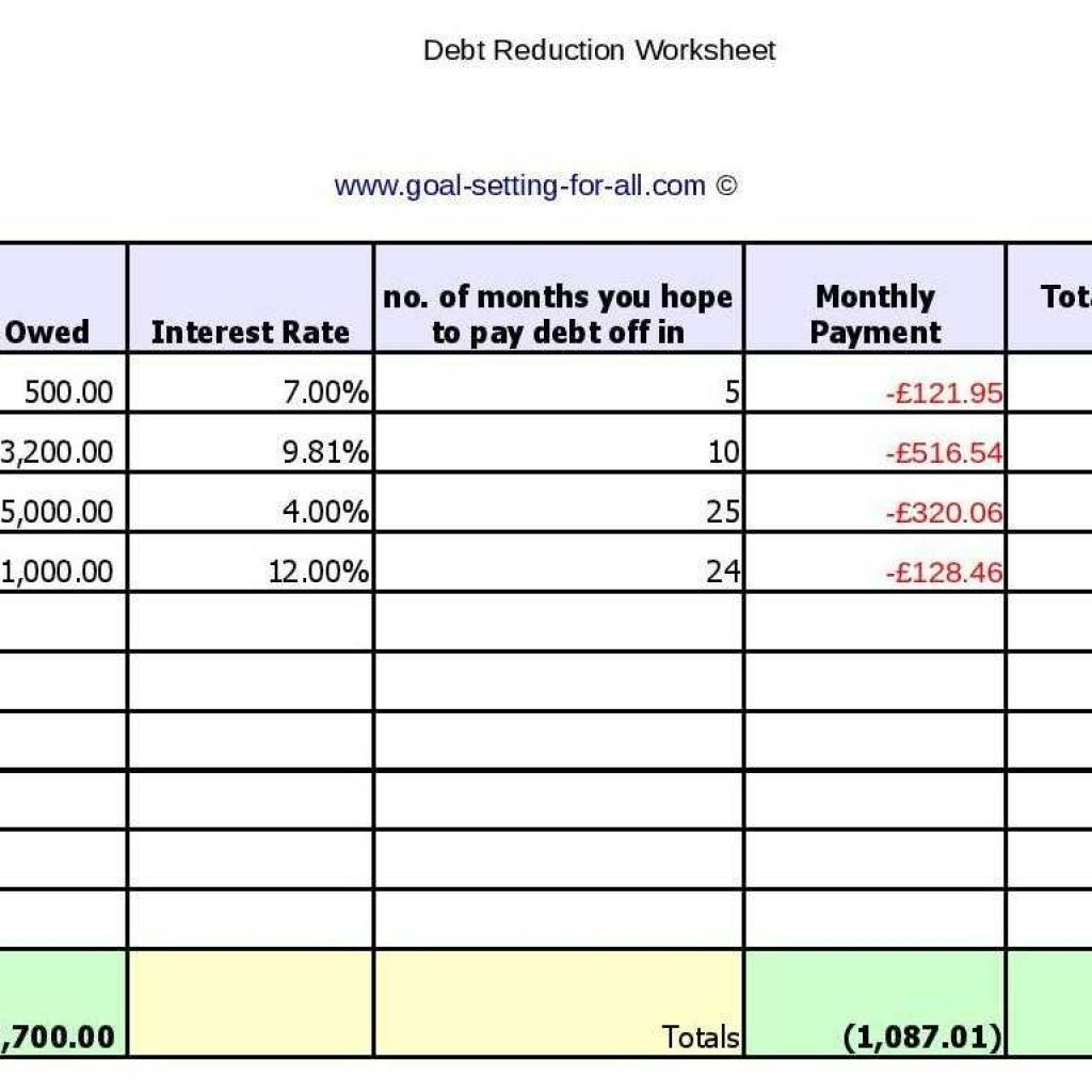 Debt Reduction Spreadsheet For Numbers With Debt Reductioneadsheet Sheet For Mac Free Template Numbers Best