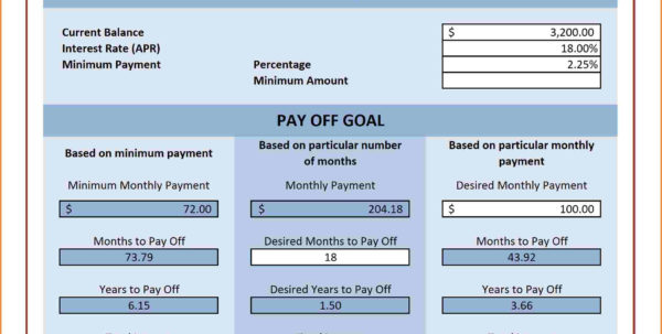 Debt Repayment Calculator Spreadsheet Intended For Multiple Credit Card Payoff Calculator Spreadsheet  My Spreadsheet