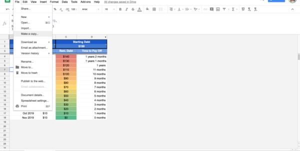 Debt Repayment Spreadsheet With Google Sheets Debt Repayment Template – Josh Lurie – Medium Debt Repayment Spreadsheet Spreadsheet Download
