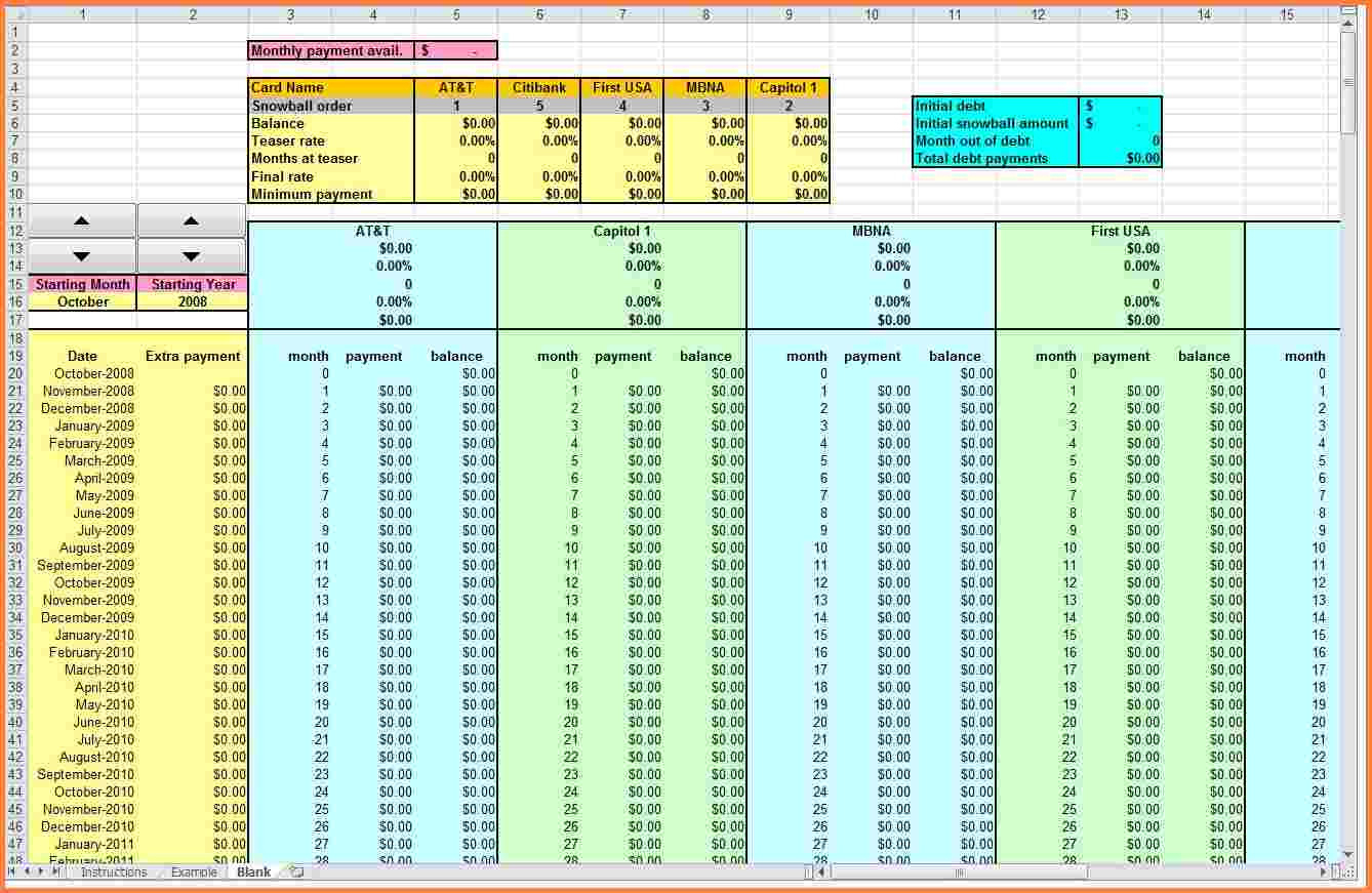 Debt Snowball Spreadsheet Download For Debt Snowball Calculator Excel – Excels Download