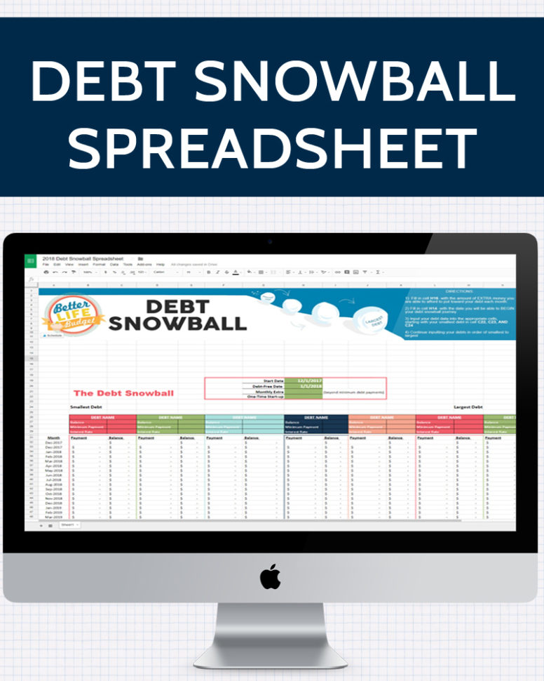 Debt Snowball Spreadsheet Download For Debt Snowball Spreadsheet » One Beautiful Home