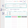 Debt Snowball Spreadsheet Download In Free Debt Snowball Spreadsheet Collectio ~ Epaperzone