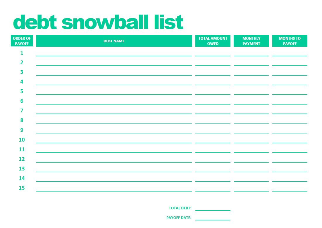 Debt Snowball Spreadsheet Download With Debt Consolidation Spreadsheet 38 Snowball Spreadsheets Forms