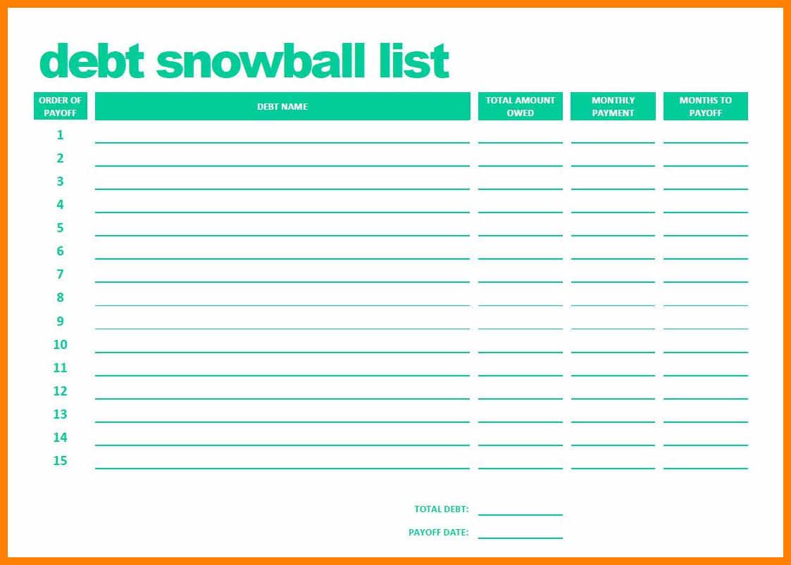 Debt Snowball Spreadsheet Inside 12  Debt Snowball Spreadsheet  Credit Spreadsheet