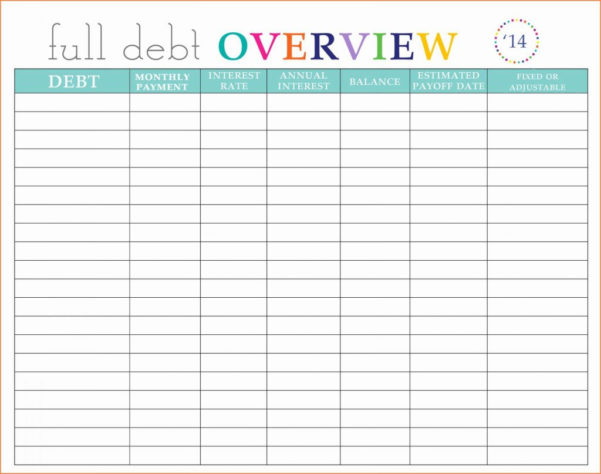 Debt Spreadsheet Template With Debt Payoff Spreadsheet Template Credit Card My Templates Luxury Get
