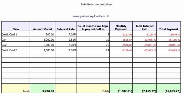 Debt Tracker Spreadsheet Inside Debt Tracker Spreadsheet Of Free Debt Reduction Spreadsheet