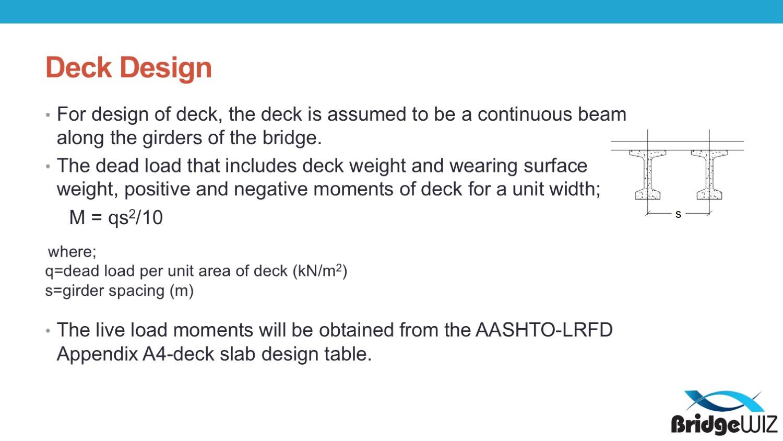 Deck Slab Design Spreadsheet Pertaining To Aashtolrfd Deck Design  Metric • Bridgewiz