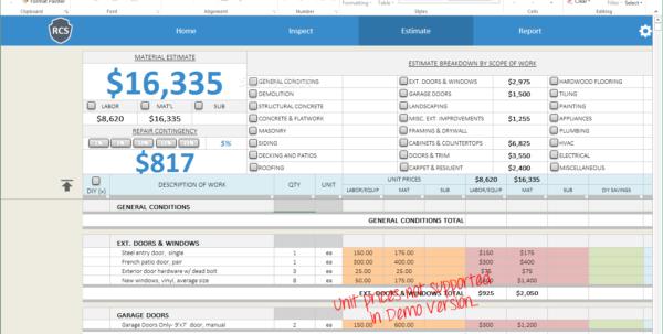 Demolition Estimating Spreadsheet For Download Remodel Cost Spreadsheet