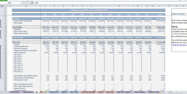 Dental Office Expense Spreadsheet Within Dental Clinic Budget Template  Cfotemplates