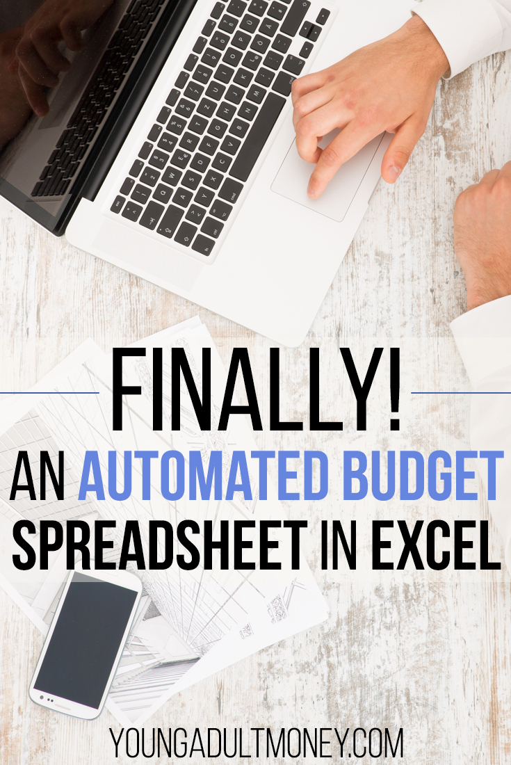 Design A Budget Spreadsheet Regarding An Automated Budget Spreadsheet In Excel  Young Adult Money