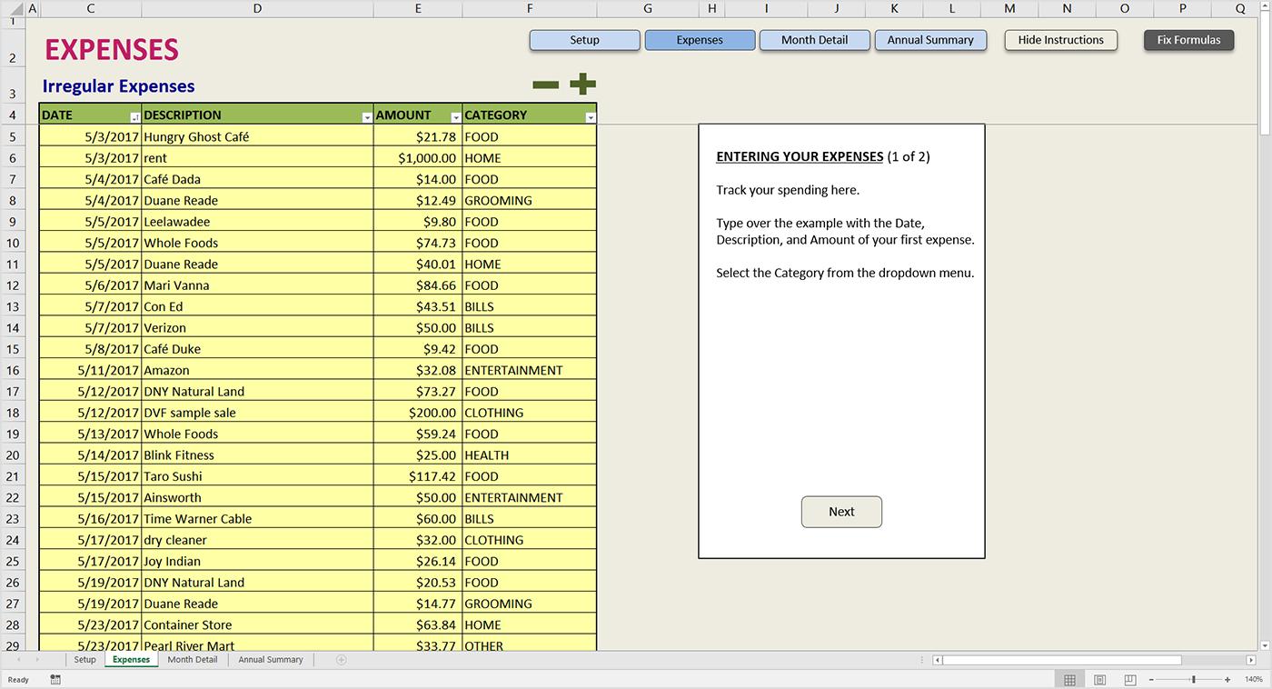 Detailed Budget Spreadsheet Regarding Easy Budget Spreadsheet Excel Template  Savvy Spreadsheets