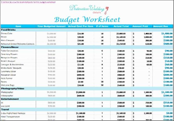 Detailed Wedding Budget Spreadsheet For Downloadable Wedding Budget Spreadsheet Invitation Checklist – The