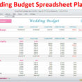 Detailed Wedding Budget Spreadsheet Pertaining To Wedding Planner Budget Template Excel Spreadsheet Wedding  Etsy