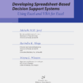 Developing Spreadsheet Based Decision Support Systems 2Nd Edition Solutions inside Pdf Developing Spreadsheetbased Decision Support Systems
