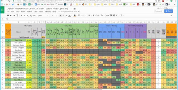 Dfs Spreadsheet For 23 Primo Of Golf Clash Club Stats Spreadsheet  Template Ideas
