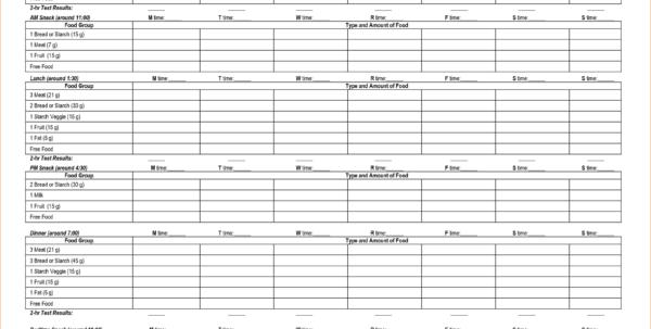 Diabetes Excel Spreadsheet Pertaining To Example Of Diabetes Spreadsheet Diabetic Meal Planning  Pianotreasure