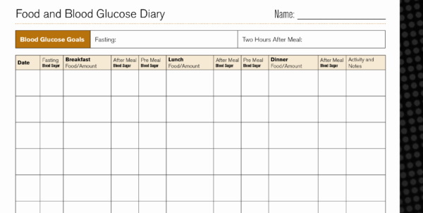 Diabetes Food Log Spreadsheet For Blood Pressure Monitoring Chart Excel Inspirational Diabetic Food