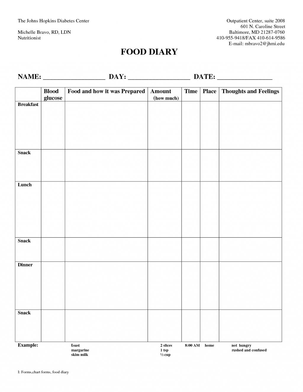Diabetes Food Log Spreadsheet intended for Example Of Diabetes Spreadsheet Diabetic Food Diary Template