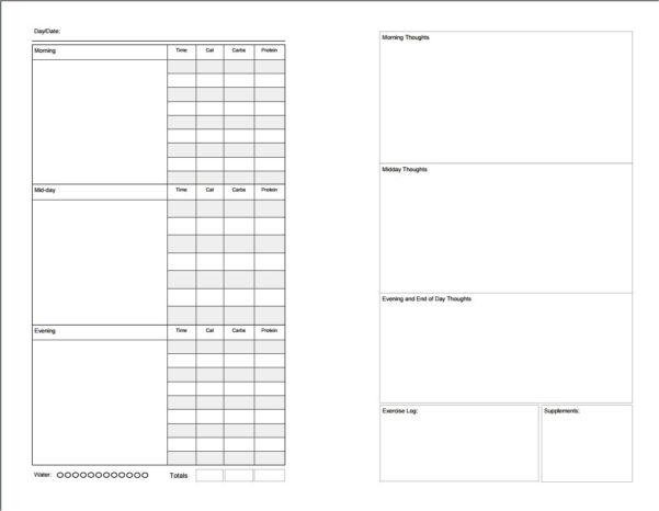 Diabetes Food Log Spreadsheet With Regard To Printable Food Diary