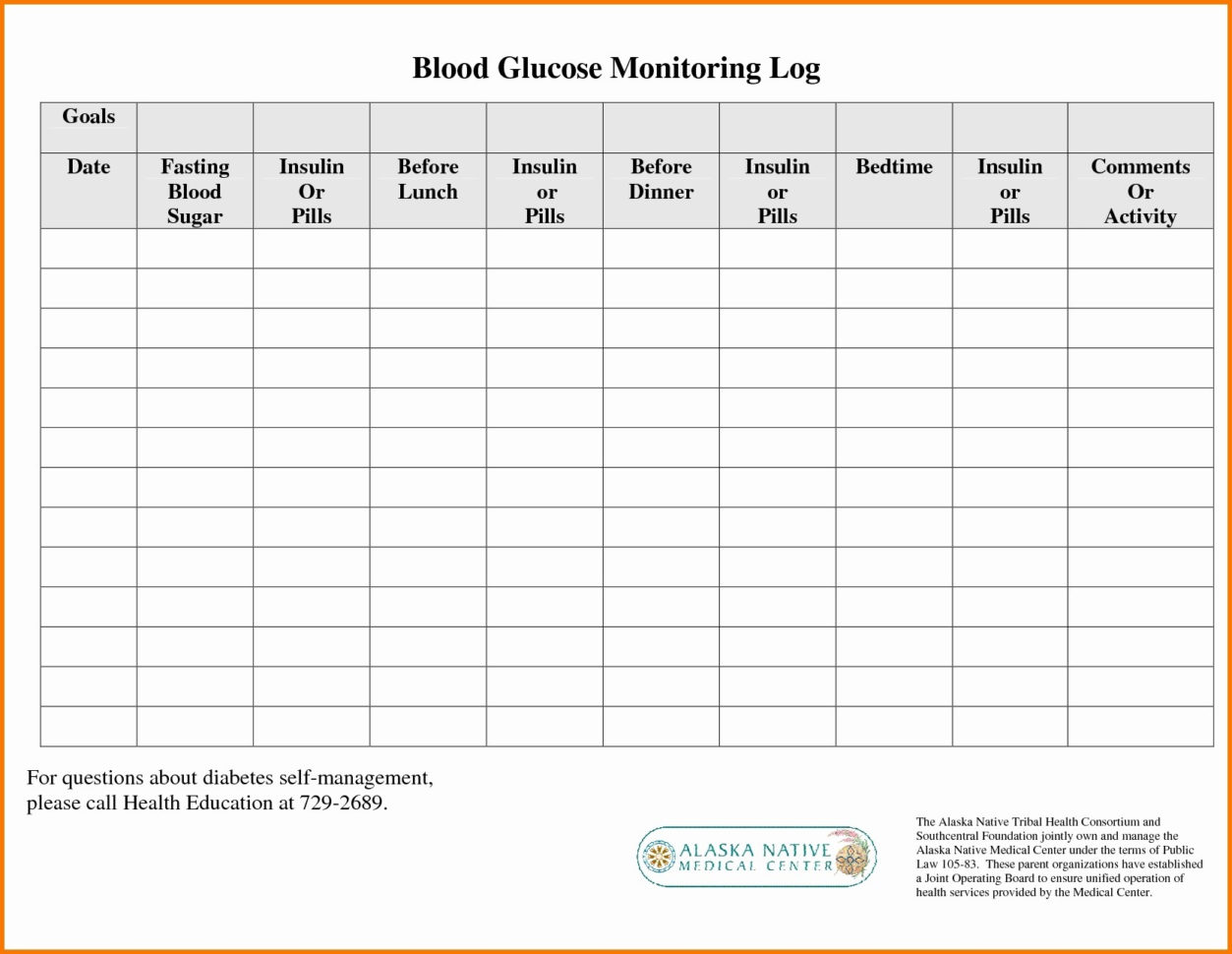 Diabetes Glucose Log Spreadsheet For Printable Blood Sugar Chart Template Unique Printable Blood Sugar