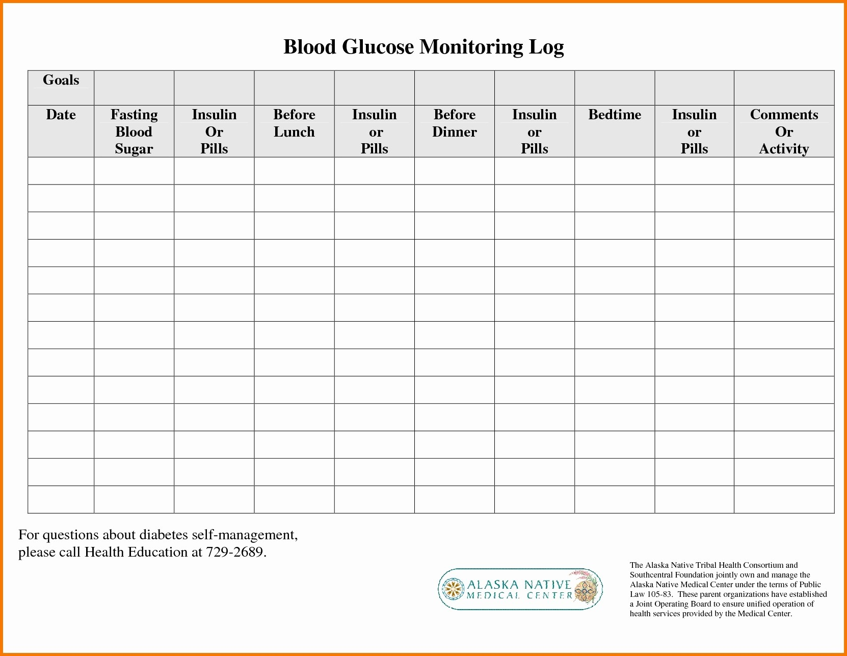 Diabetes Glucose Log Spreadsheet for Printable Blood Sugar ...