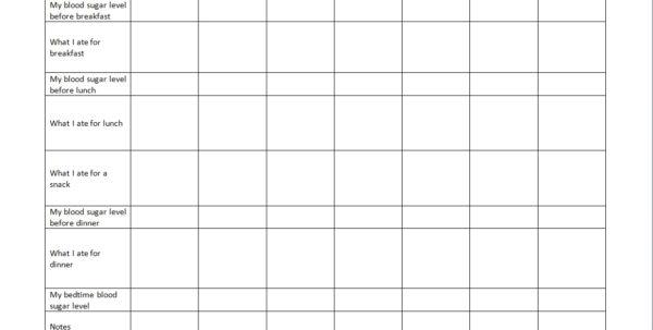 Diabetes Glucose Log Spreadsheet With Regard To Diabetes Blood Sugar Log Sheet Printable Pinterest Diabetic Book