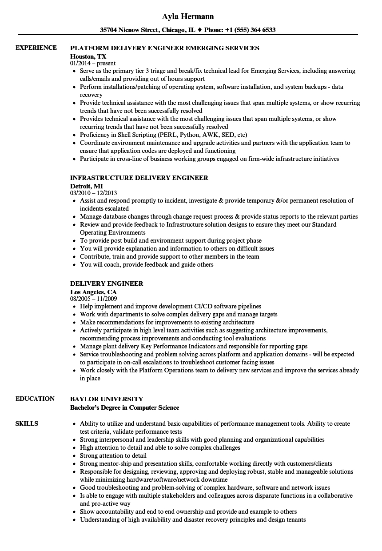 Diacap Controls Spreadsheet For Delivery Engineer Resume Samples  Velvet Jobs