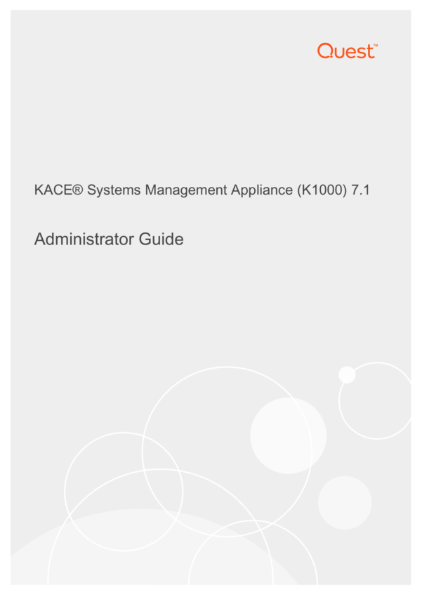 Diacap Controls Spreadsheet Within Kace® Systems Management Appliance K1000 7.1 Administrator