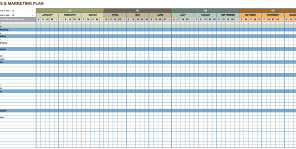 Digital Marketing Spreadsheet For Marketing Action Plan Template Excel Marketing Spreadsheet Template