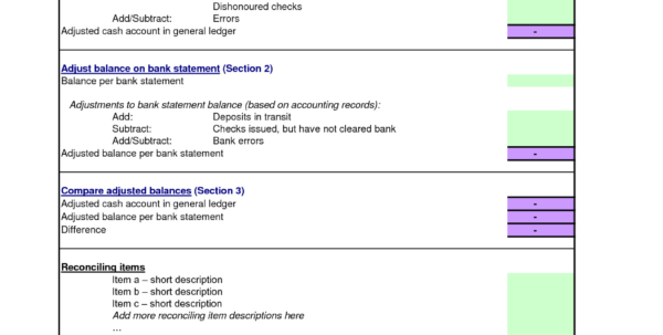 Direct Debit Spreadsheet Within Bank Reconciliation Formula Statement Excel Pdf Spreadsheet Template